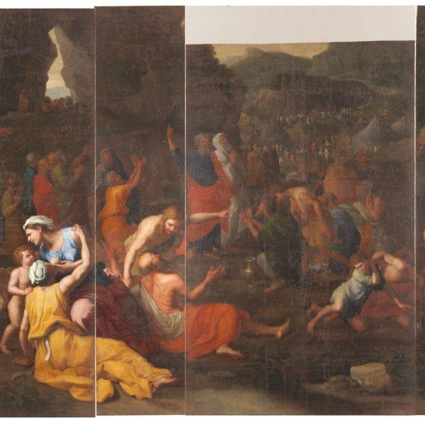 Les Israélites recueillant la manne