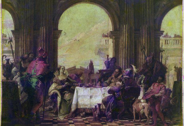 Etude - Tiepolo le banquet - 4- uvfc