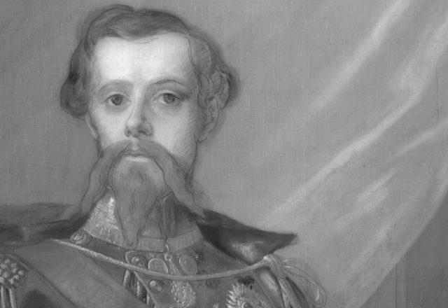 infrarouge-atelier-equipement5- détil portrait de victor emmanuel 2 roi de Savoie 2