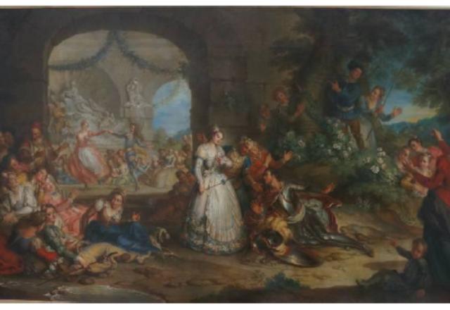 Charles-Antoine COYPEL - Roland apprend par les bergers la perfidie d'Angélique