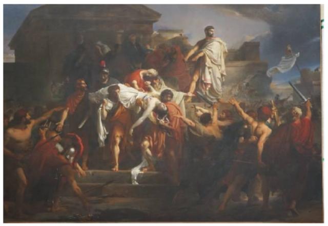 Auguste-Hyacinthe DEBAY - Lucrèce sur la place publique de Collatie