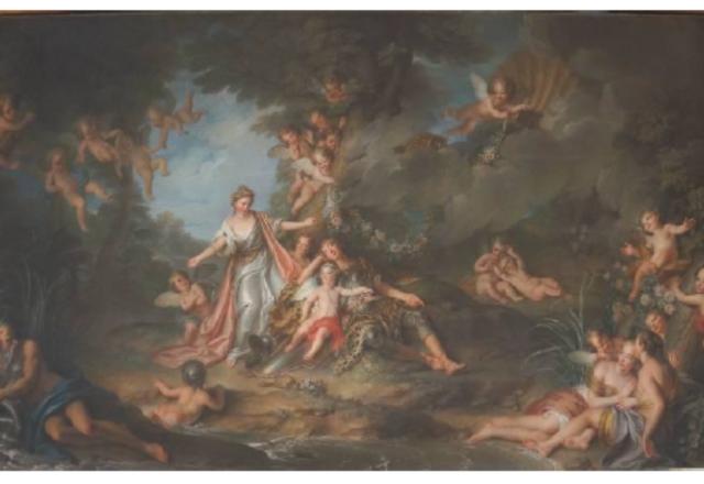 Charles-Antoine COYPEL - Le sommeil de Renaud