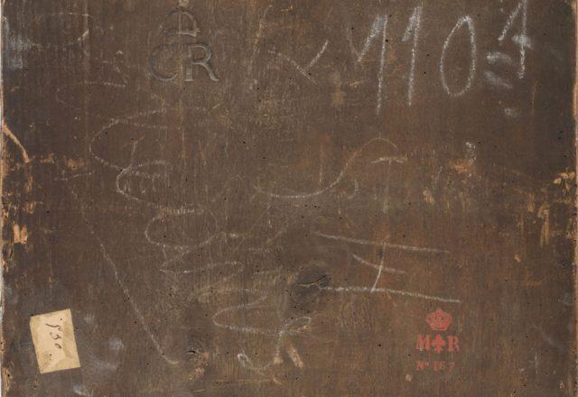 Correge-La vierge à l'Enfant avec saint Jean-Baptiste et Saint Joseph, inscriptions au dos de l'oeuvre /©Arcanes