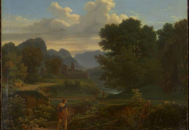 Girodet- Chasseur dans un paysage
