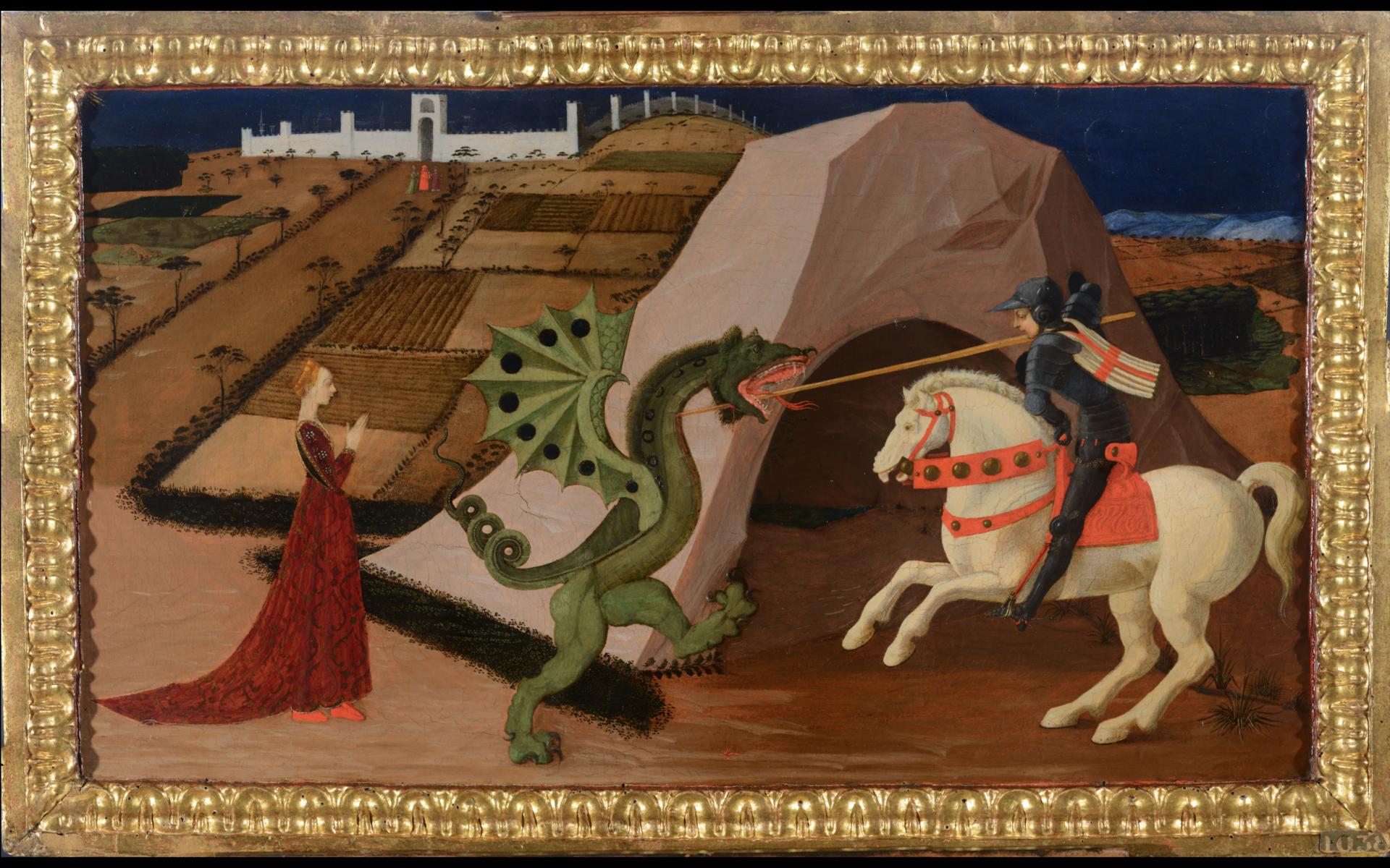 Saint Georges et le dragon, vue en lumière directe après restauration /©Arcanes