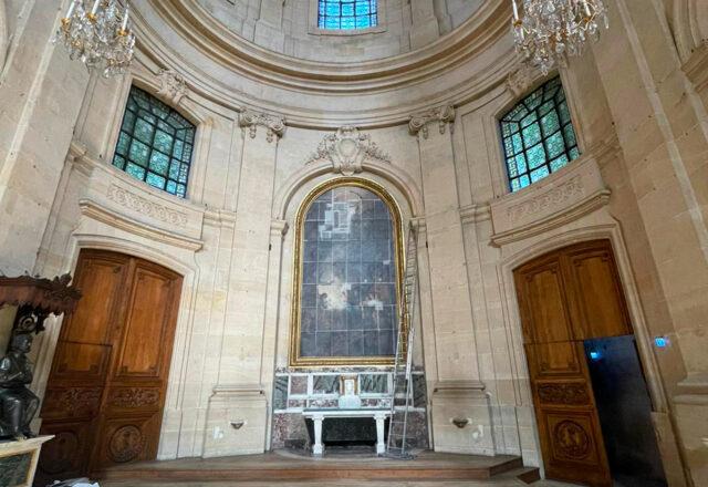 Emplacement du tableau dans la Chapelle de la Nativité - Cathédrale Saint Louis de Versailles / ©Arcanes